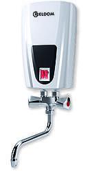 Электрический проточный водонагреватель Eldom 6.5 kw E71 краны (E6.5kwE71)