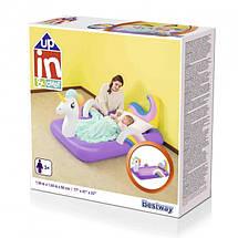 Надувная кровать для детей велюр-кровать Bestway Единорог 67713, фото 2