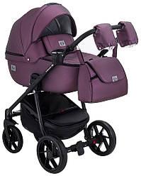 Детская коляска универсальная 2 в 1 Adamex Hybryd Plus кожа 100% Y233CZ (Адамекс, Польша)