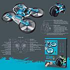 Квадрокоптер-трансформер QY Leap Speed PRO дрон-мотоцикл на р/к 2 в 1 Синій (5721), фото 3