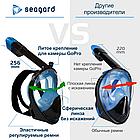 Маска для снорклинга  Seagard Easybreath-II полнолицевая для дайвинга с креплением для камеры L/XL, фото 6