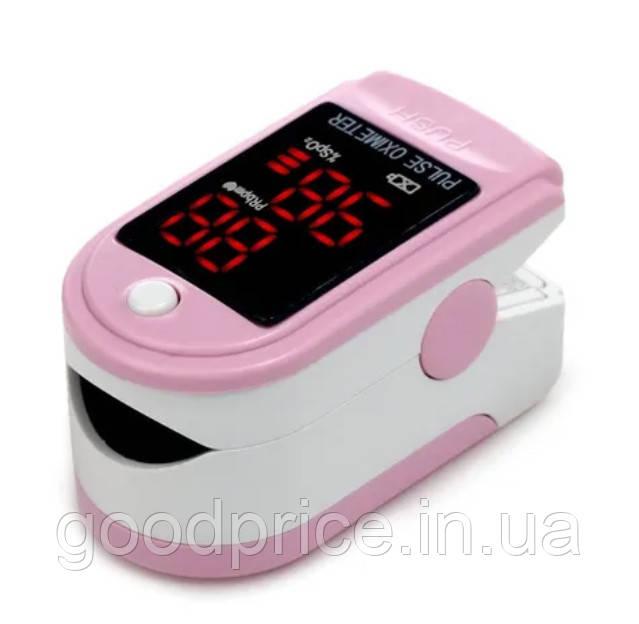 Пульсовий оксиметр CONTEC CMS50DL LED пульсометр (пульсоксиметр) на палець Рожевий (4278_7)