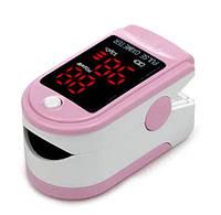 Пульсовий оксиметр CONTEC CMS50DL LED пульсометр (пульсоксиметр) на палець Рожевий (4278_7), фото 1