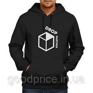 Худі (кенгуру) DROPPARTNER Merch Premium Classic Hooded Sweat з принтом S/46 Чорне (SUN_DP010S)