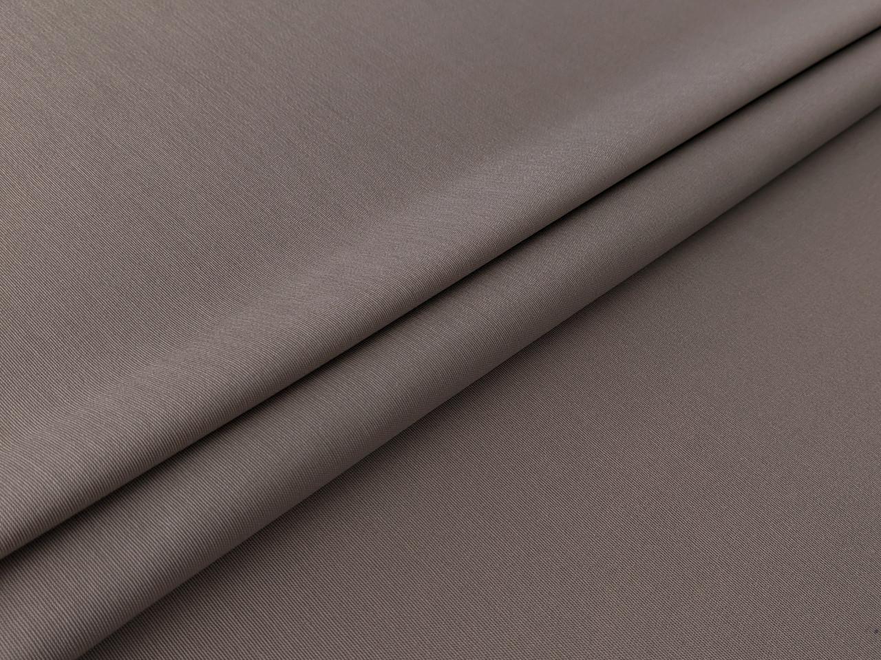 Коттон твил однотонный, светло-коричневый