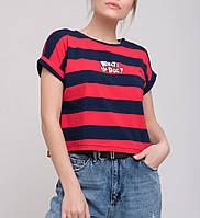 Женская футболка в яркую полоску, фото 1