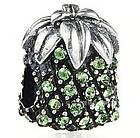 """Шарм бусина Pandora (Пандора) """"Зеленый ананас"""", фото 3"""