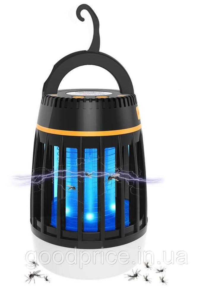 Знищувач комарів SUNROZ Killer Lamp M3 IPX6 3в1 пастка для комах + ліхтар + PowerBank 2200 мА Чорний (4558)