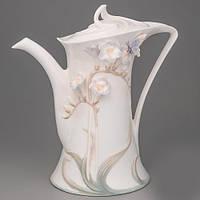 """Чайник """"Бабочка в цветке"""" (21 см)"""