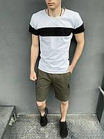 """Комплект Футболка """"Color Stripe"""" серая - черная + Шорты Miami хаки Intruder, фото 1"""