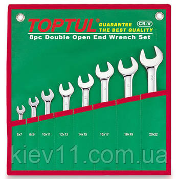 Набор ключей рожковых 6-22 мм TOPTUL 8 шт. GAAA0812