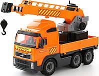 """Автомобиль-кран """"Volvo"""" с поворотной платформой, в сетке 49*20*32см , ТМ Полесье (2шт) (8824)"""
