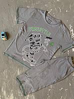 Пижама для мальчика подростка с шортами и футболкой