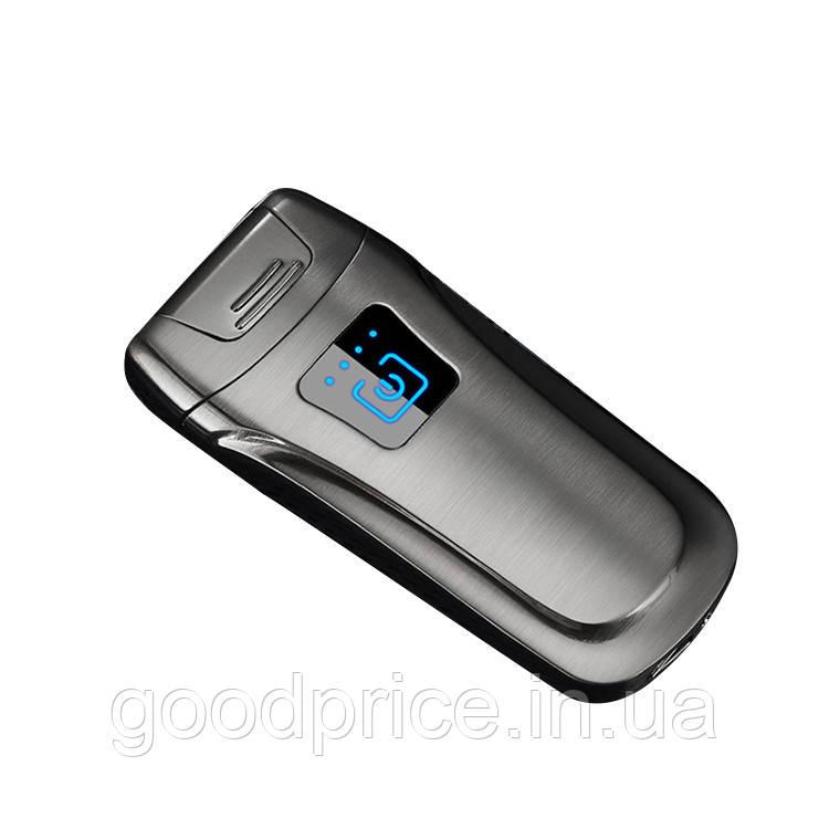 Запальничка SUNROZ DK-1802 портативна електронна акумуляторна USB запальничка Срібний