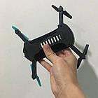 Складной квадрокоптер JUN YI TOYS JY018 дрон с камерой 0.3Mp WiFi Черно-Синий, фото 7