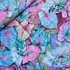 Штапель неоновые листья, ш. 140 см