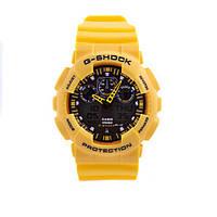 Неубиваемые спортивные наручные часы Casio G-shock GA-100 разных цветов Черный Черный Желтый, фото 1