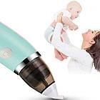 Електронний назальний аспіратор SUNROZ Little Bees для немовлят Блакитний (3694), фото 3