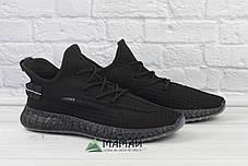 Кросівки чоловічі сітка чорні, фото 3