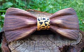 Деревянная бабочка галстук 3D Leo ручной работы, серия Зиррикот