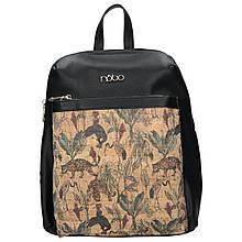 Рюкзак жіночий NOBO Чорний з узором (NBAG-I2850-C020)
