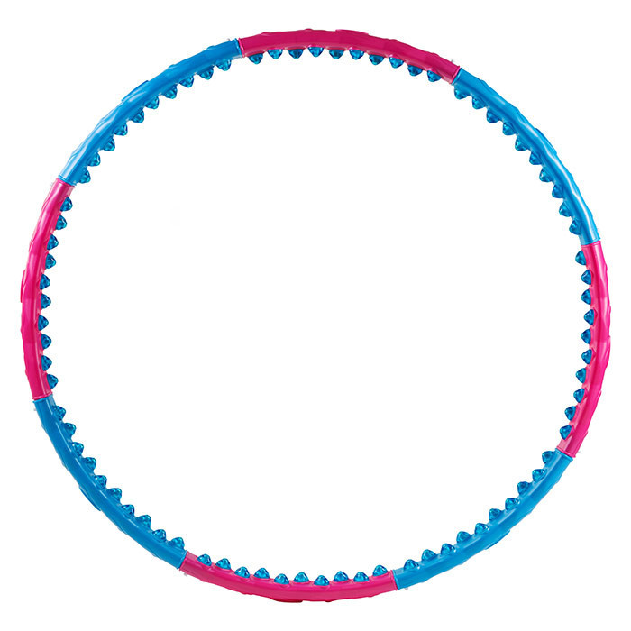 Обруч разборной массажный, 2 ряда шариков, 3002