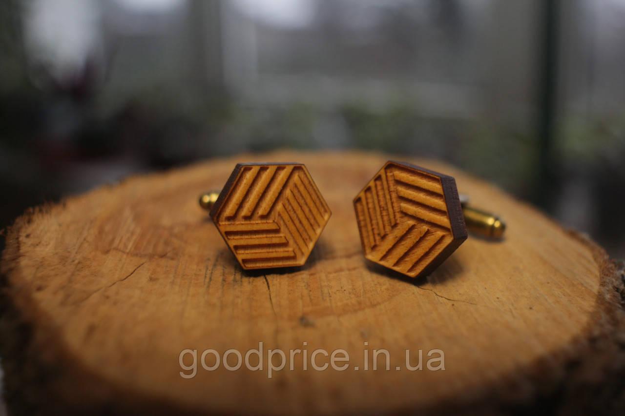 Деревянные запонки № 2 ручной работы