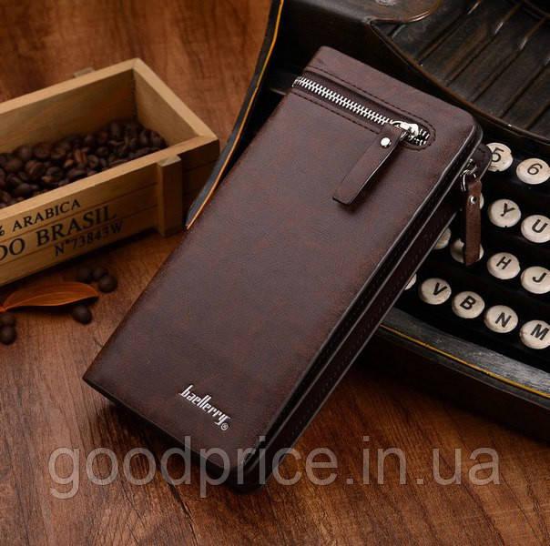 Мужской клатч портмоне  Baellerry Italia (коричневый)