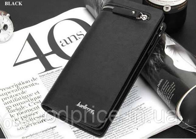 Мужской клатч портмоне  Baellerry Italia (черный)