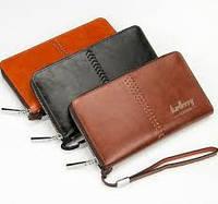 Мужской клатч портмоне  Baellerry Italia Leather (Лизер) черный