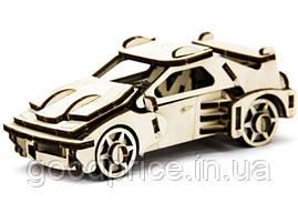 Механический деревянный 3D пазл SUNROZ Автомобиль Ferrari 53 эл.