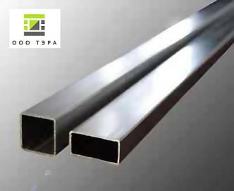 Труба прямоугольная нержавеющая 50 х 10 х 1.5 aisi 304, фото 2