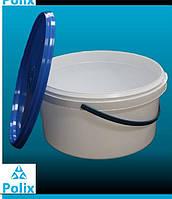 Пластиковое ведро 3л. белое, прозрачное, герметичное, с контрольной пломбой, ручкой и крышкой