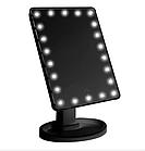 Настольное зеркало для макияжа SUNROZ с LED подсветкой  22 светодиода Черное (0149), фото 3