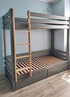 Кровать деревянная детская двухэтажная Альф 2 (200х90), фото 1