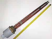 Блок ТЭН прямой медный 1200W/380V для котлов, систем отопления и подогрева воды