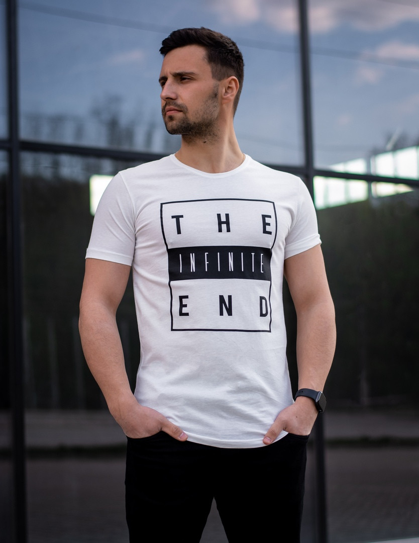 Футболка мужская Infinite.Базовая футболка для мужчин. Летняя футболка