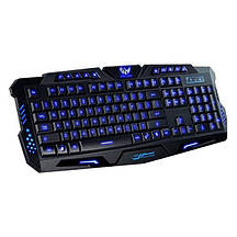 Проводная игровая USB клавиатура WIRED M200 c 3-х цветной подсветкой геймерская