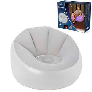 Надувное кресло Bestway 75086 102 х 97 х 71 см с LED подсветкой