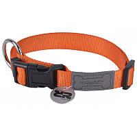 Wouapy basic нейлоновый ошейник для собак (44-65см) оранжевый