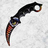 """Нож деревянный """"Керамбит"""" Хищник из игры Counter-Strike"""