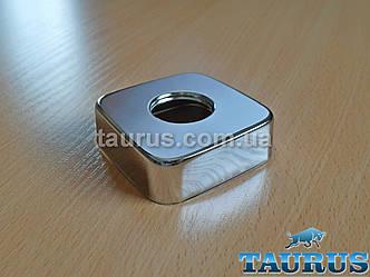 """Великий квадратний декоративний фланець CUBE 60х60х20 chrome хром, d25 мм (3/4"""") чашка, розет. TAURUS"""