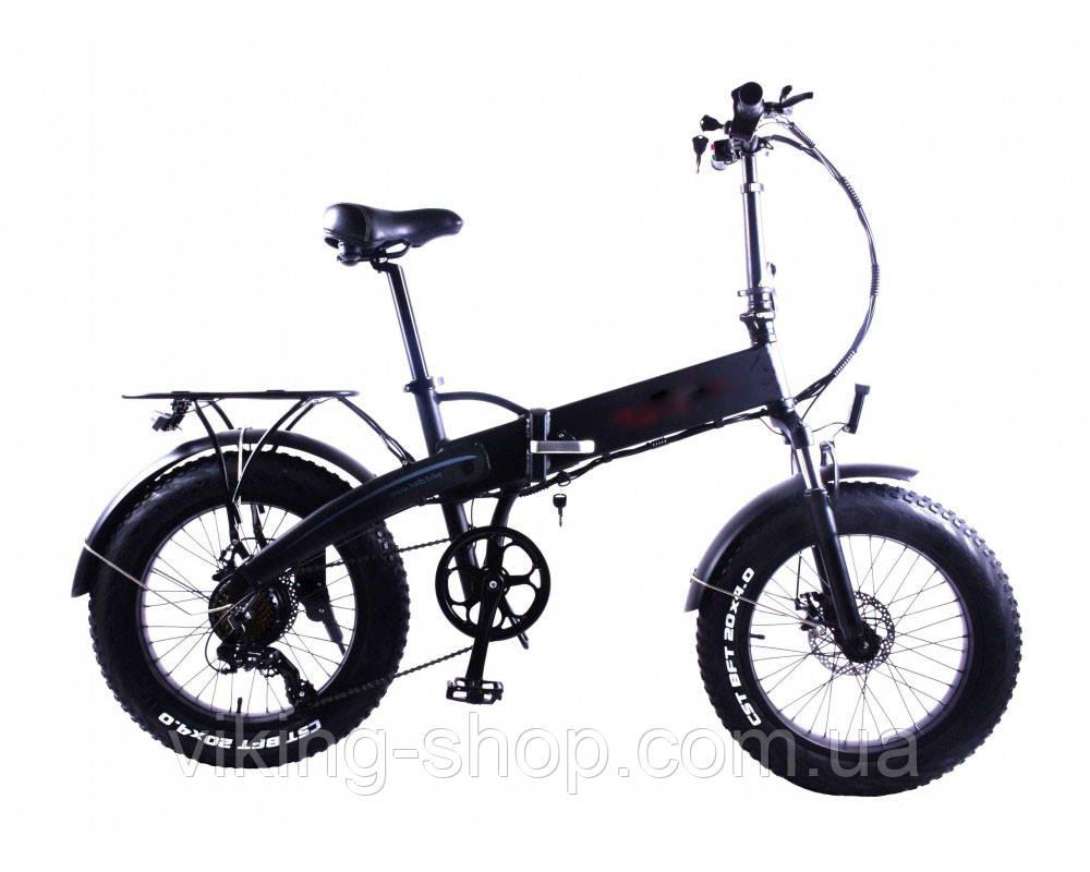 """Электровелосипед складной фэтбайк 20"""" 350W, 48V,10ah"""