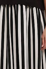 Свободное платье больших размеров в полоску стиль бохо, фото 2
