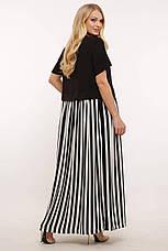Свободное платье больших размеров в полоску стиль бохо, фото 3