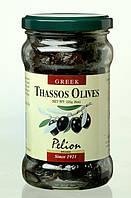 Оливки чёрные вяленые с косточками/ Pelion Thassos Olives, 320 г