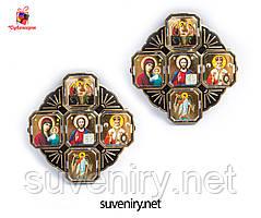 Православная иконка-оберег в машину с ликами Святых