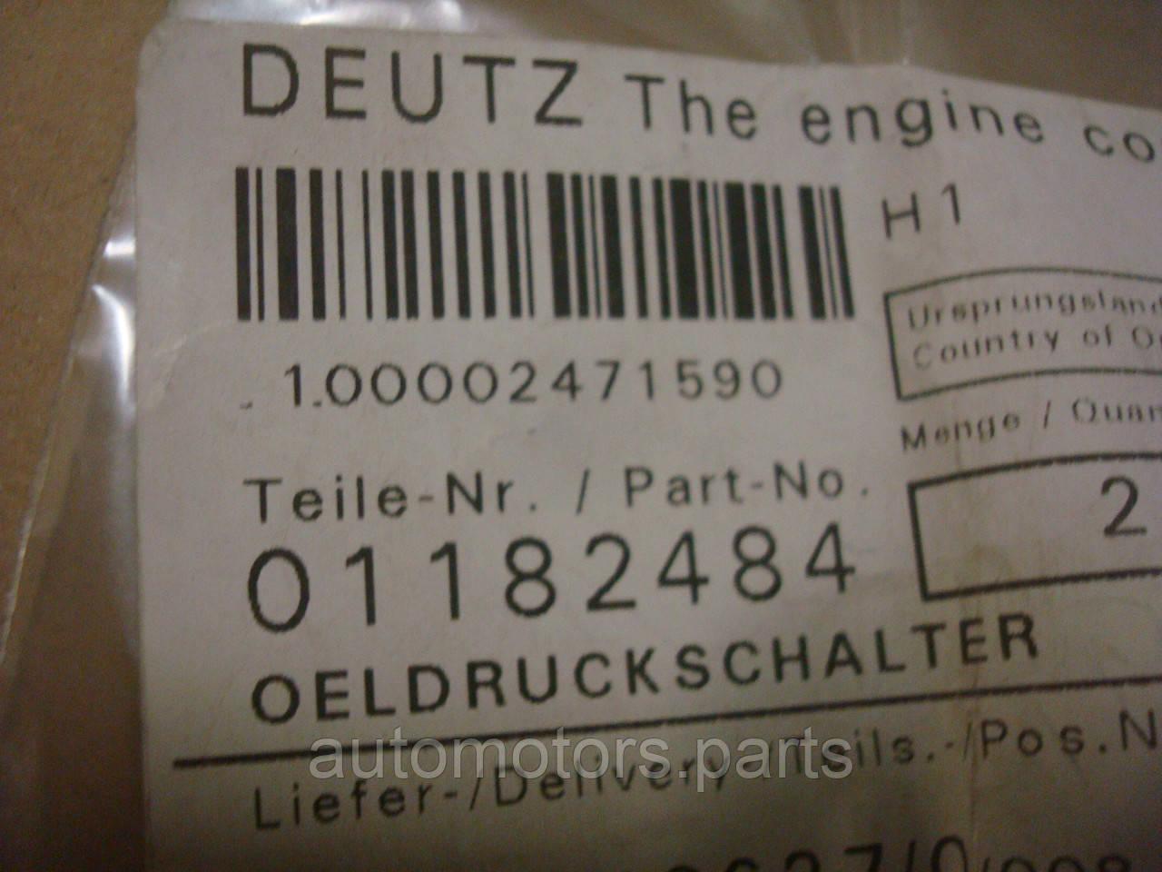 Датчик давления системы смазки в блок Deutz 01182484