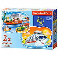 Пазлы Castorland    2х Contour (020102) 28*20 Корабли