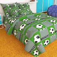 """Детское постельное белье """"Футбол зелен."""""""